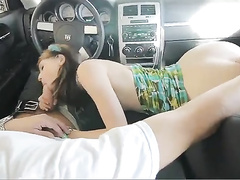 Getting excited in the car and fucking at home