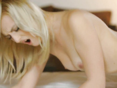 Steaming sexy blonde lesbian is hotly exciting her brunette girlfriend
