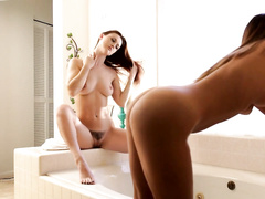 Girlfriends are pleasing each other with hot pussy fingering