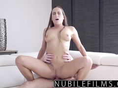 Brown haired kitty is excitingly bending her wonderful body