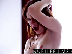 Redhead lesbian babe is getting her cunt licked by blonde girlfriend