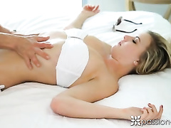 Young fucker enjoys deepthroat blowjob and fucks awesome sexy girlfriend