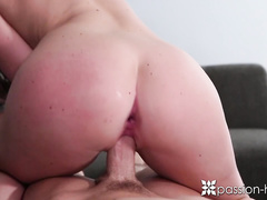 Brunette with petite jelly butt Lily Carter got seduced to blowjob big dick